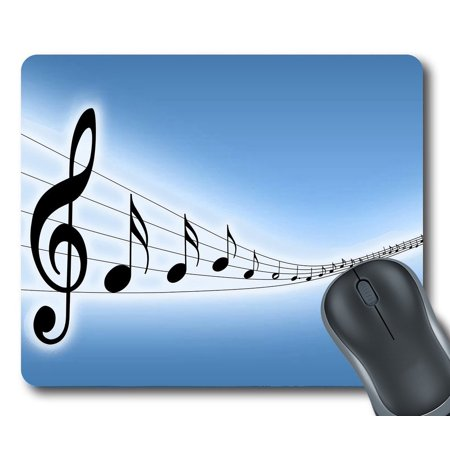 GCKG Lovely Melody Music Notes Mouse Pad Personalized Unique Rectangle Gaming Mousepad 9.84