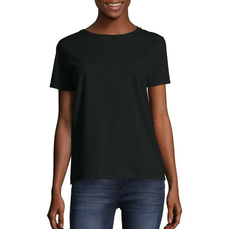 Women's Comfort Soft Short Sleeve Tee (Jessica Black T-shirt)
