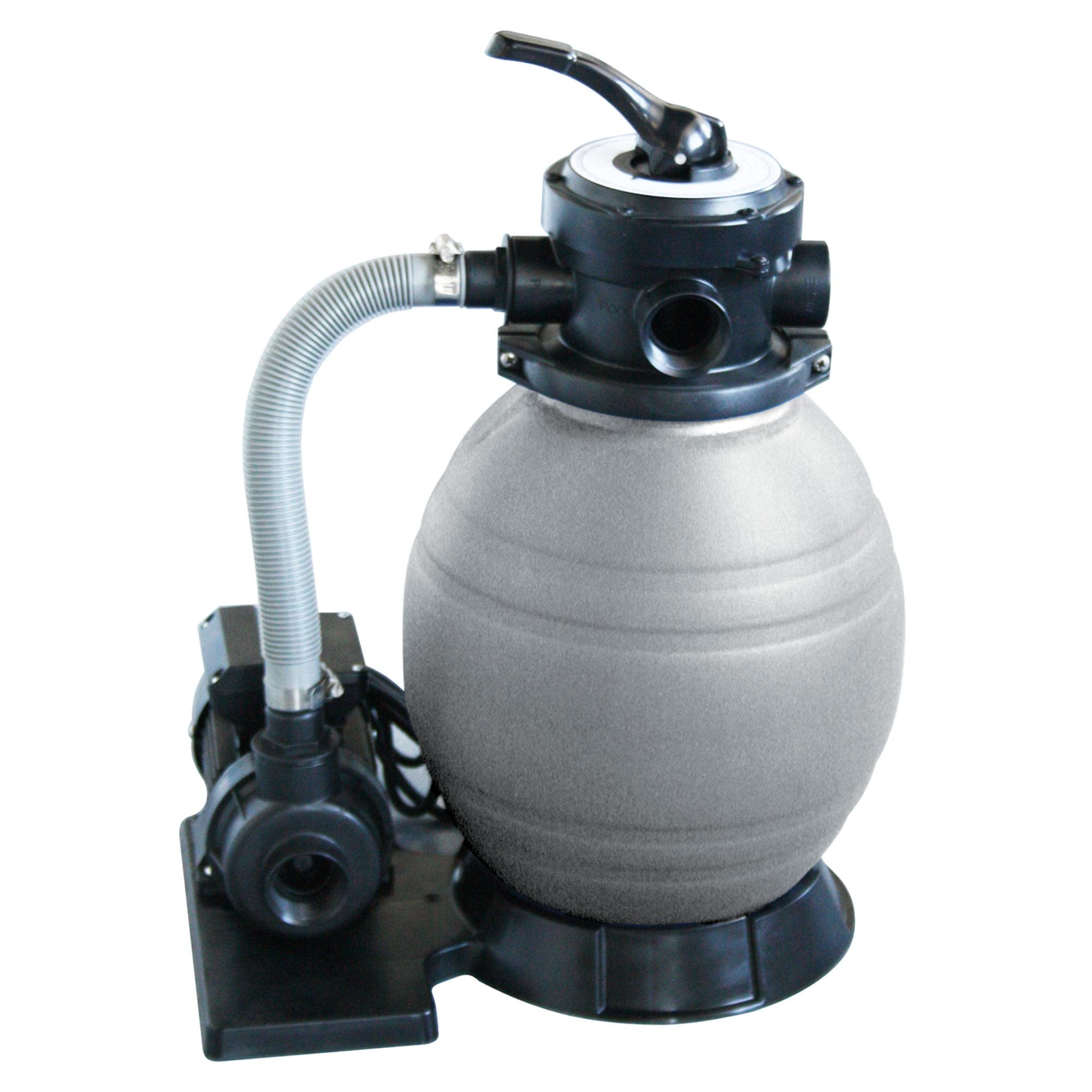 Hook up sand filter pump above ground pool