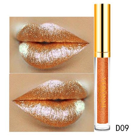 iLH Mallroom 10 Color Womens Magic Glitter Flip Lipstick Flip Pull Matte Pearl Lip Gloss Clu