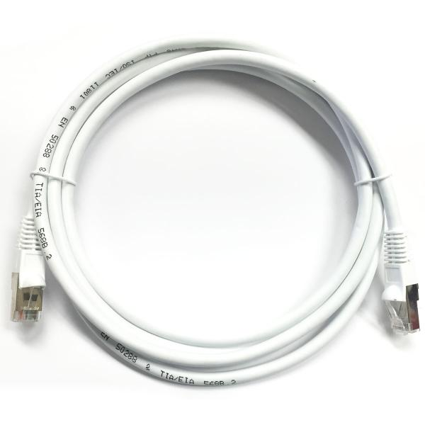 2' CAT6 (500MHz) STP Shielded Network Cable - White - image 1 of 1