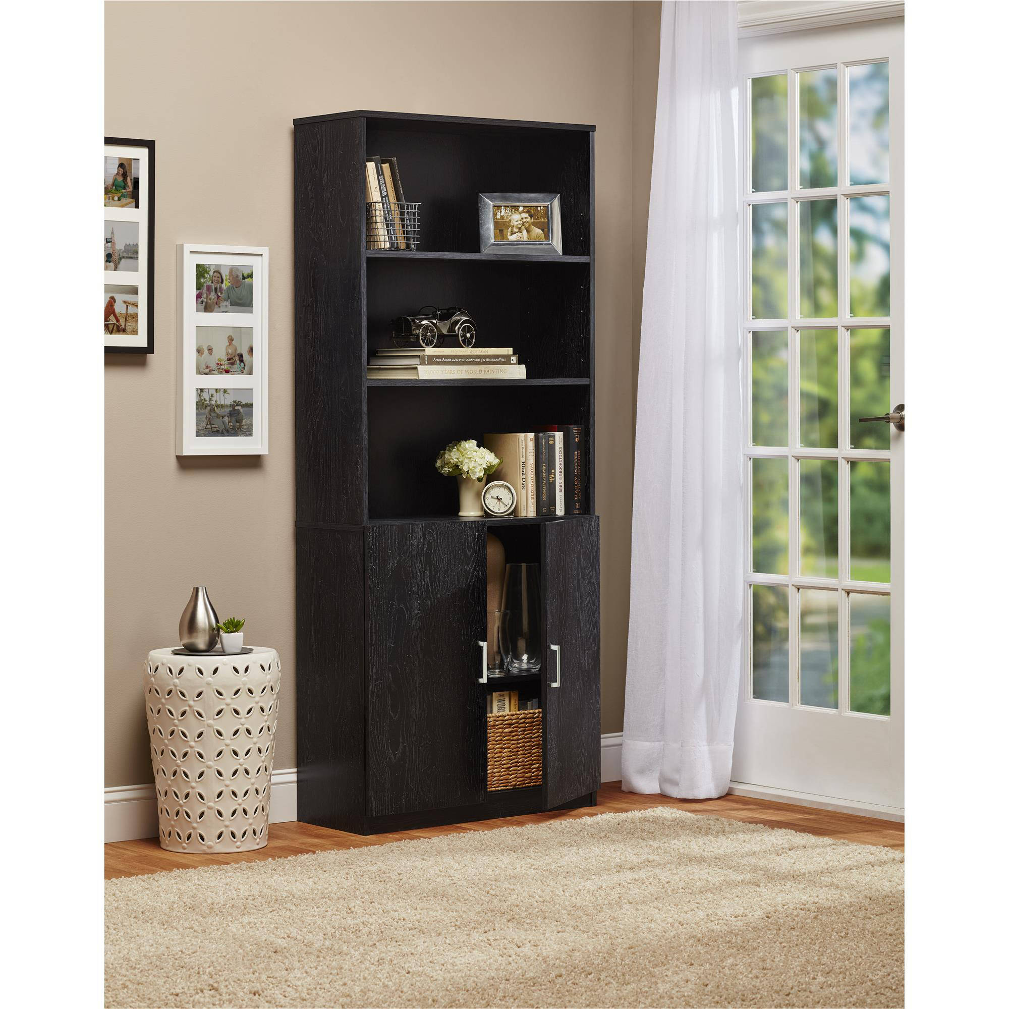 Ameriwood 3 Shelf Bookcase With Doors   Walmart.com
