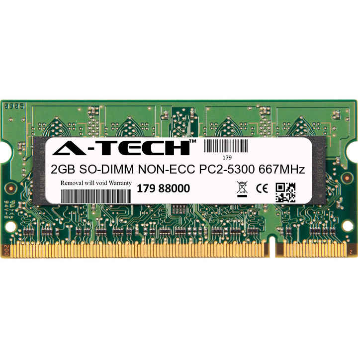 2GB Module PC2-5300 667MHz NON-ECC DDR2 SO-DIMM Laptop 200-pin Memory Ram