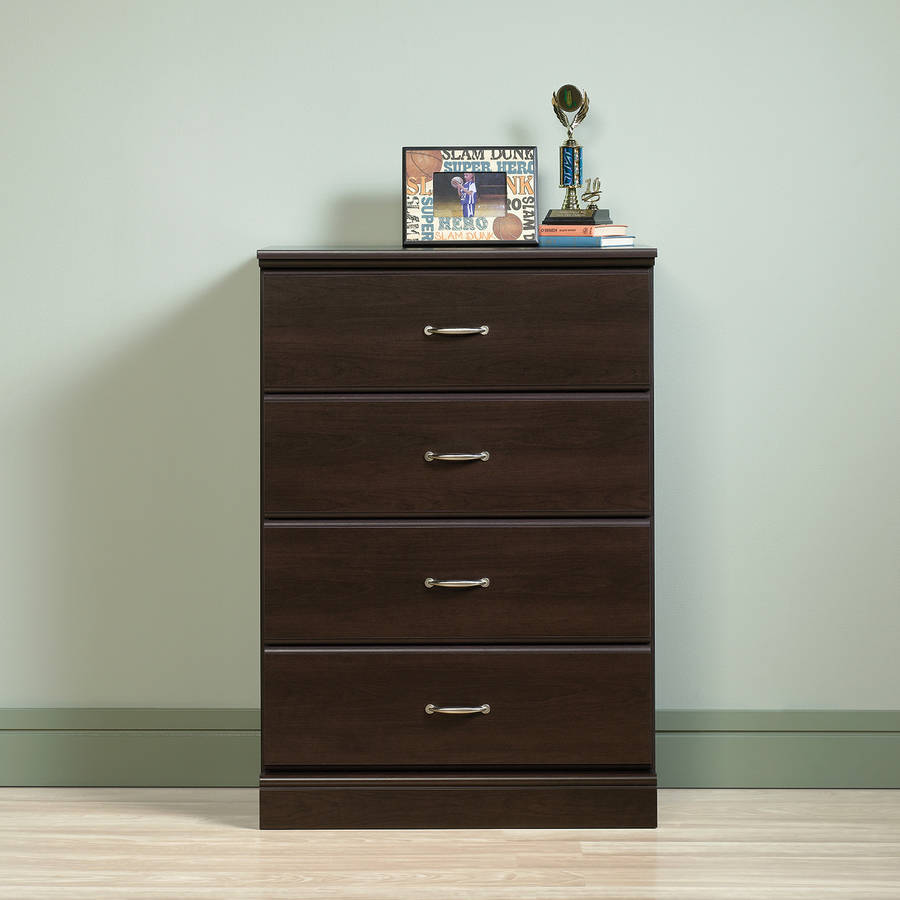 Sauder Parklane 4-Drawer Chest, Espresso Finish