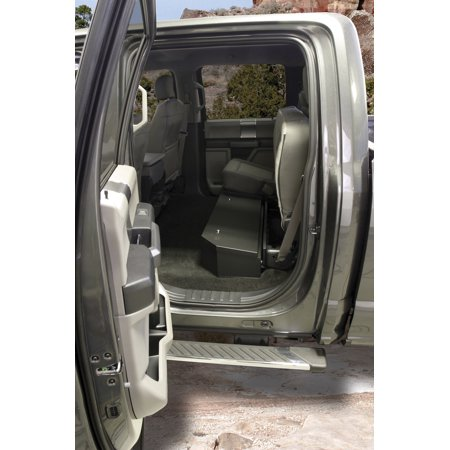 Tuffy Security Products 316-01 Under Seat Lockbox - Full Length; Black; 2015-Current Ford F150 SuperCrew, 2017-Current Ford SuperDuty SuperCrew