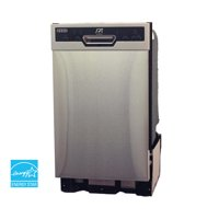 """Sunpentown 18"""" Built-In Dishwasher with Heated Drying, Energy Star, Stainless Steel, SD-9254SS"""