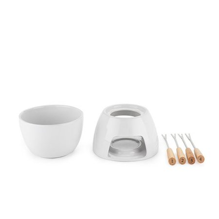Cheese Appetizer (Cheese Fondue Set, Ceramic Small Serving Tool Gift Four Appetizer Picks)