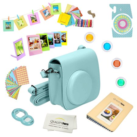 Fujifilm Instax Mini 9 Accessories kit (Ice Blue ) Includes a 12-piece Bundle For the Fujifilm Instax Mini 9 Instant Camera (Latest model 2017 Release.) for $<!---->
