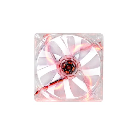 Airflo Series (Thermaltake 120mm Pure 12 Series Red LED Quiet High Airflow Case Fan CL-F019-PL12RE-A)