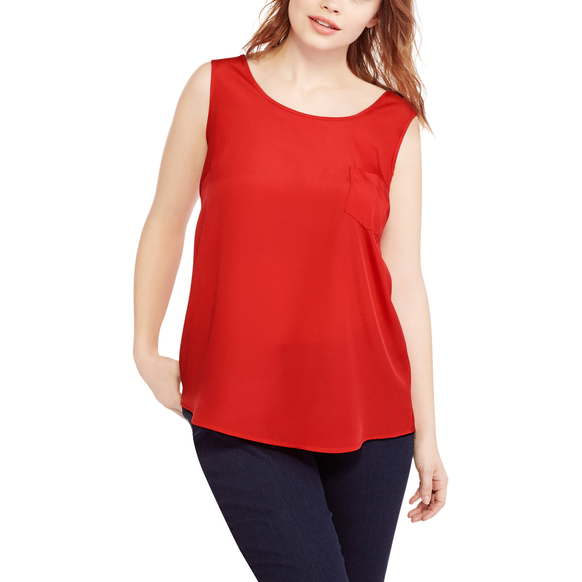 Faded Glory Women's Plus Woven Tank