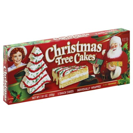 Little Debbie Family Pack Christmas Tree Cakes Vanilla Snack Cakes