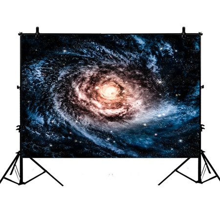 PHFZK 7x5ft Universe Backdrops, Awesome Spiral Galaxy Photography Backdrops Polyester Photo Background Studio Props