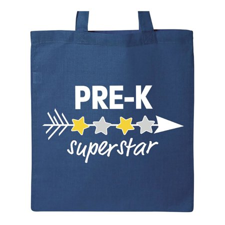 Pre-K Superstar with arrow and stars Tote Bag Royal Blue One (Superstar Bag)
