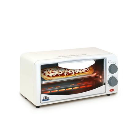 Elite Gourmet ETO-224 2-Slice Toaster Oven with Broiler & Timer