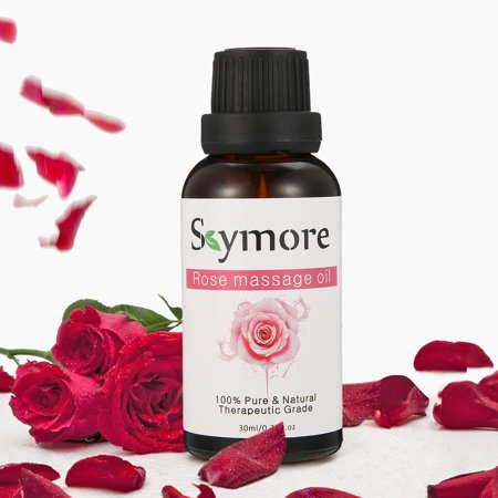 SKYMORE Body Massage Oil Rose, 30ml 100% Pure & Natural Ingredients, Essential Oils for Therapeutic Massaging-Anti-Aging, Relaxation, Moisturizing, Hydrating and (Best Massage Oils For Romance)
