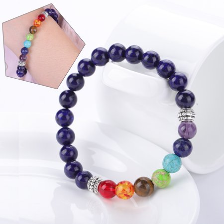 6a803f8a7e31 Hilitand - 3Colors Bead Bracelet Beaded Bangle Elastic Wristband Wrist Strap  Band with Alloy Decoration, Wrist Band,Bracelet - Walmart.com