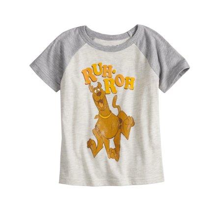 6c0b3d053 Toddler Boys Scooby Doo Graphic Raglan T-Shirt Ruh Roh - image 1 of 1 ...