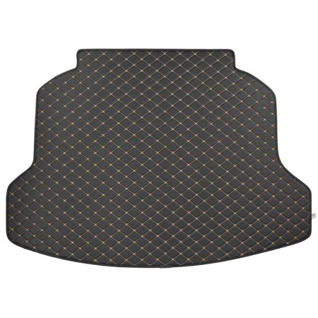 Leatherette Trunk Mat Cargo Liner - Luxury Padded PU Leather - For Honda CRV 2012 - 2015, Luxury PU Leather Material - Padded Surface provides.., By Motor