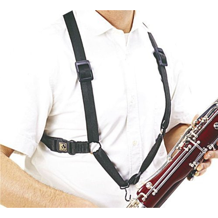 BG B10 Bassoon Harness, Nylon Black