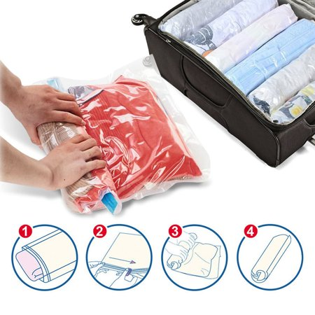 OCDAY Manually Vacuum Compressed Bag Seal Bags Travel Storage Bags Clothes Organizer - image 2 of 12