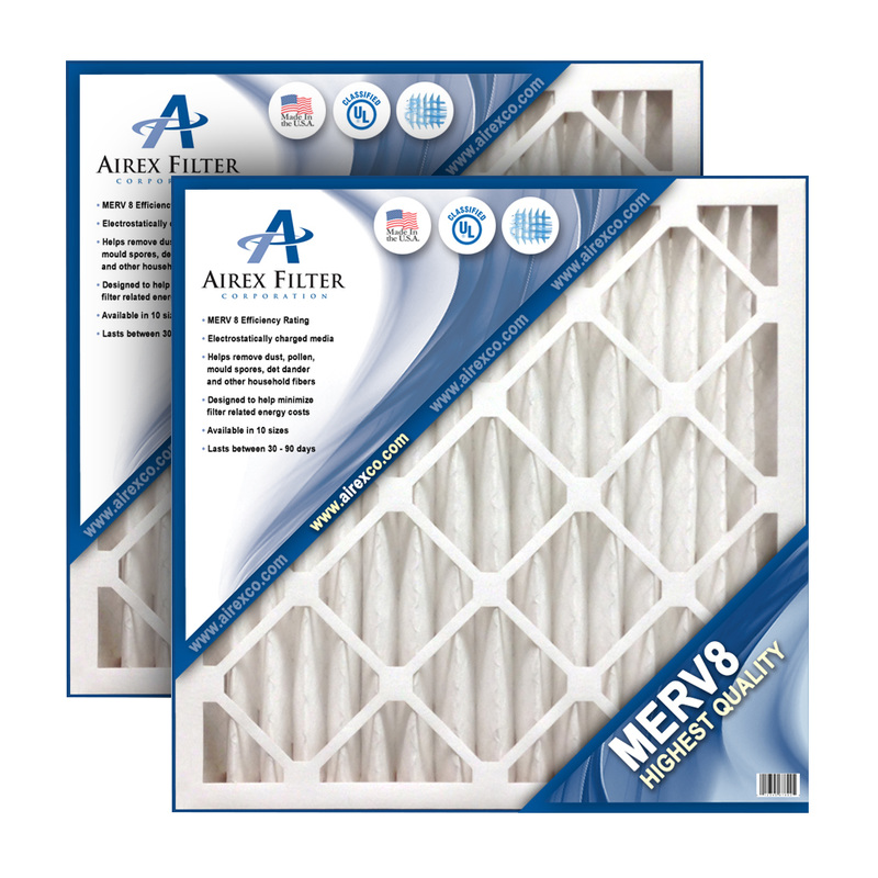 Image of 10x20x2 Pleated Air Filter MERV 8 - Highest Quality - 3 Pack - (Actual Size: 9.5 X 19.5 X 1.75)