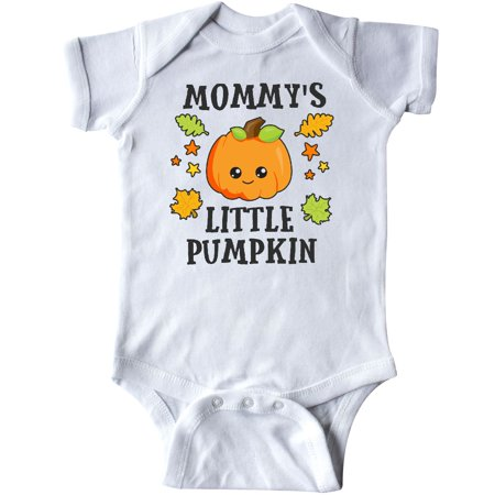 Inktastic Mommys Little Pumpkin With Leaves And Stars Infant Creeper Halloween