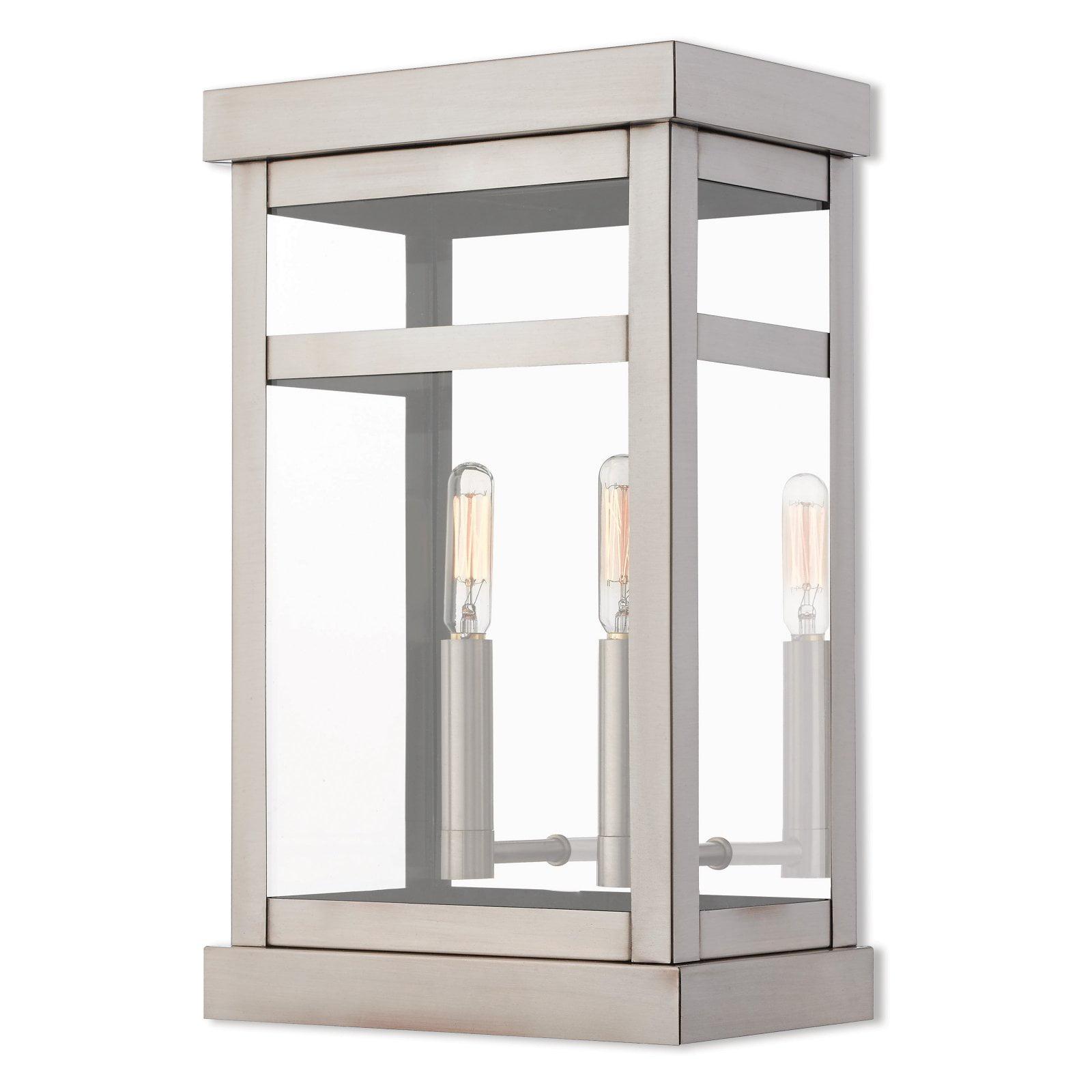 Porch Light Walmart: Livex Lighting Hopewell 2 Light Outdoor Wall Lantern