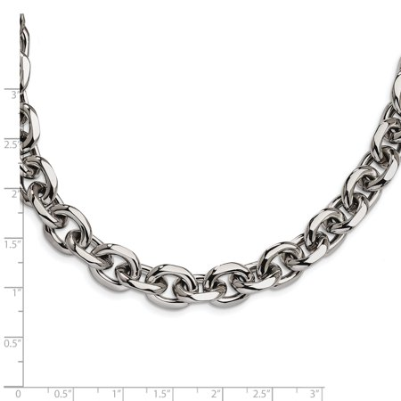 Stainless Steel 24.5in Chain Necklace Pendant Charm Cable Fashion Jewelry Gifts For Women For Her - image 2 of 7