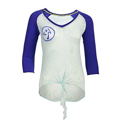 zumba fitness astral baseball tee (x-large, sky)