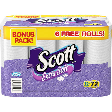 Scott Extra Soft Double Roll Bath Tissue  264 Sheets  36 Rolls
