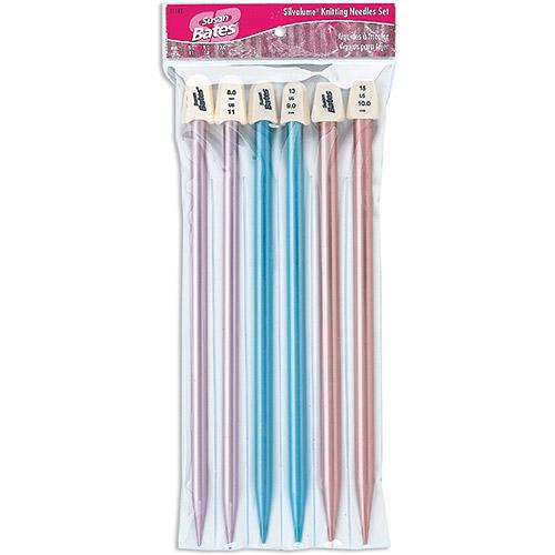 """Silvalume 10"""" Knitting Needles Gift Set, Sizes 11, 13 and 15"""