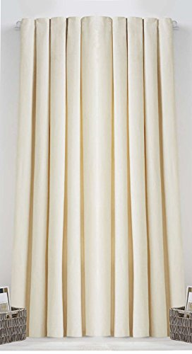 Rod Pocket Top Window Treatment Thermal Insulated Blackout Curtains Cream 86X55 by SkylineWears