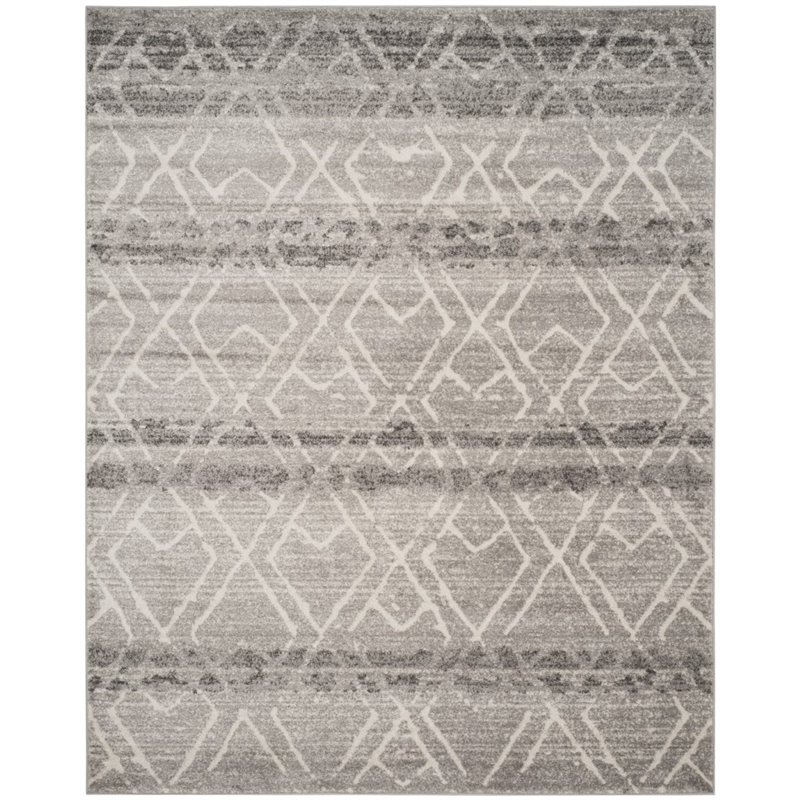 "Safavieh Adirondack 5'1"" X 7'6"" Power Loomed Rug in Silver and Ivory - image 3 de 3"