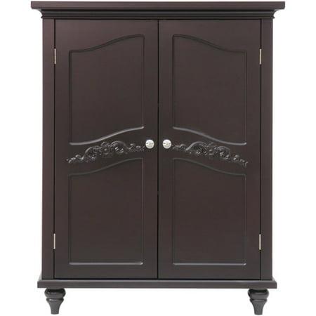 Elegant Home Fashions Somerset Floor Cabinet, Dark Espresso