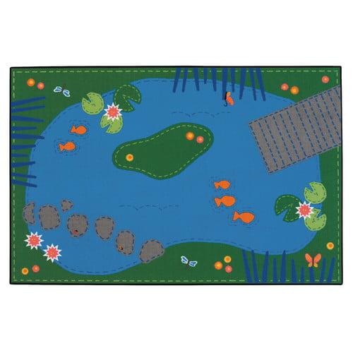 Carpets for Kids Value Plus Tranquil Pond Area Rug