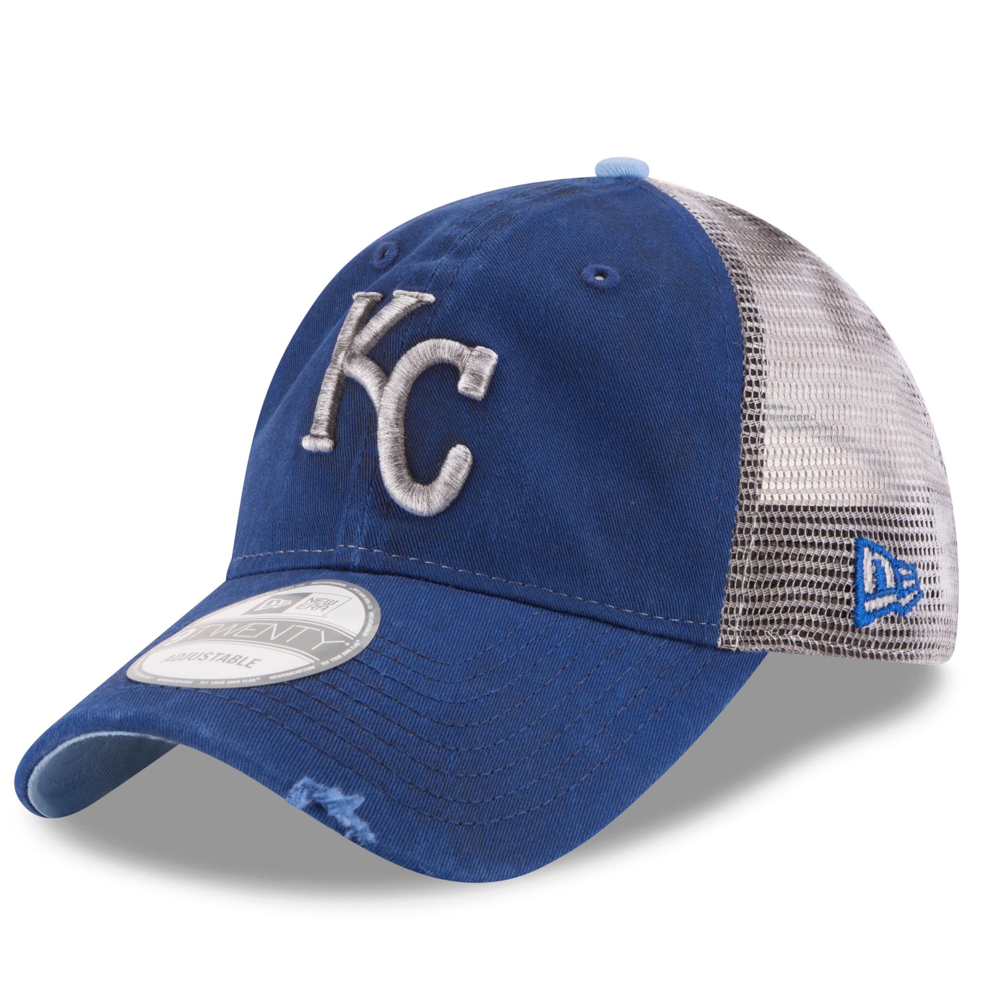 Kansas City Royals New Era Team Rustic 9TWENTY Snapback Adjustable Hat - Royal - OSFA