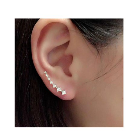 SEXY SPARKLES Ear Climbers/Ear Crawlers Earrings Cuff Climber Pins (Crawler Cuff Earrings)