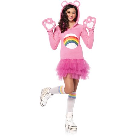 Leg Avenue Care Bears Junior Cheer Bear Teen Halloween Costume - Costume Care