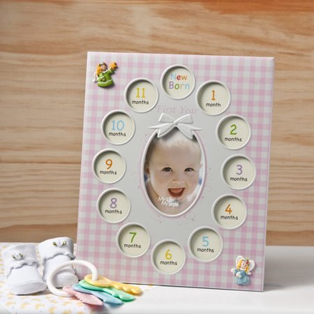 Fashion Craft Baby Girls First Year Collage Picture Frame