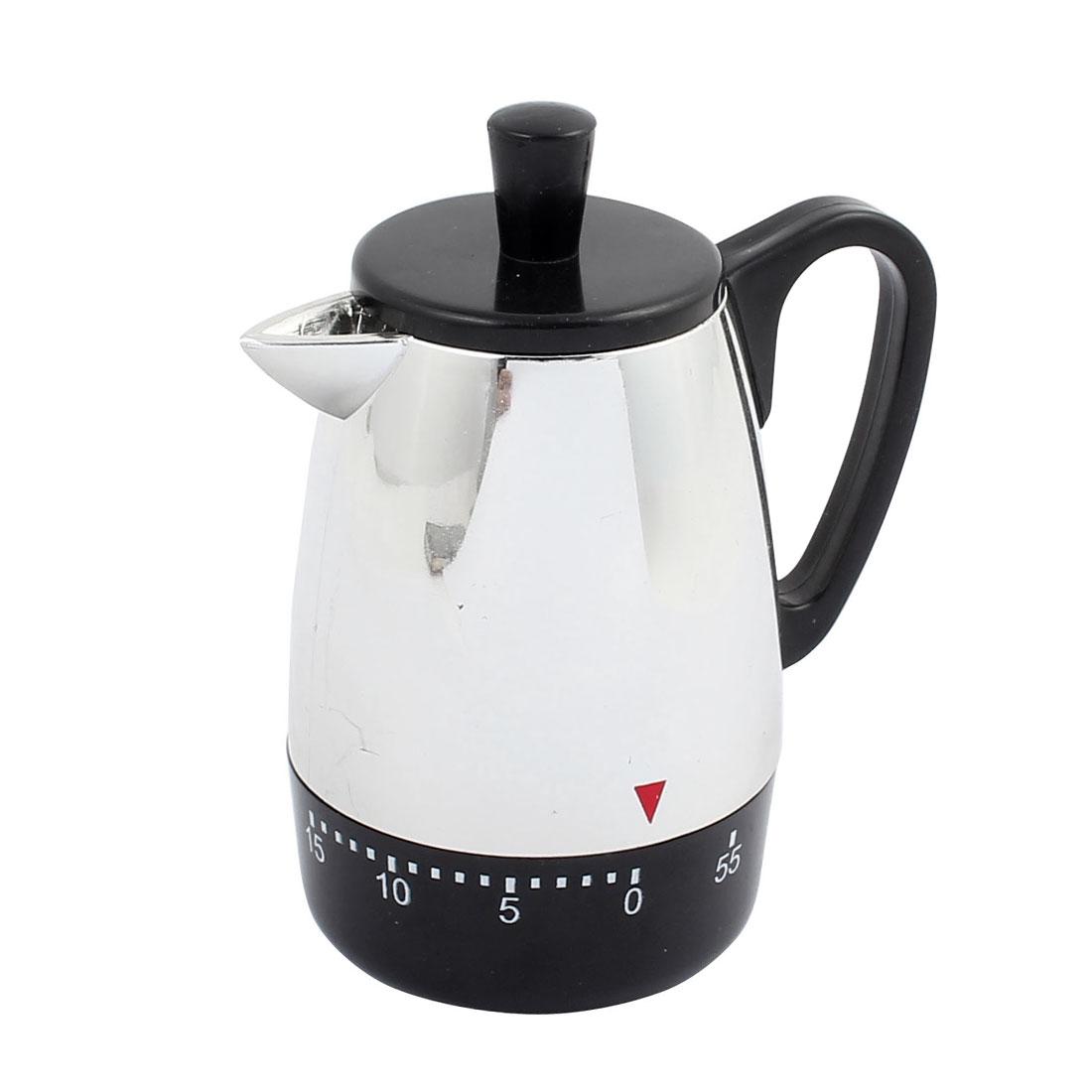 4x3.4x2.2-Inch 60 Mins Mechanical Kitchen Timer Coffee Pot Design