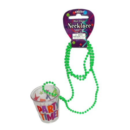 PARTY TIME PLASTIC SHOT GLASS NECKLACE - Custom Shot Glass Necklace