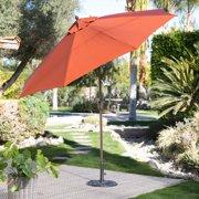 Coral Coast 9-ft. Spun-Poly Push Button Tilt Wind Resistant Patio Umbrella