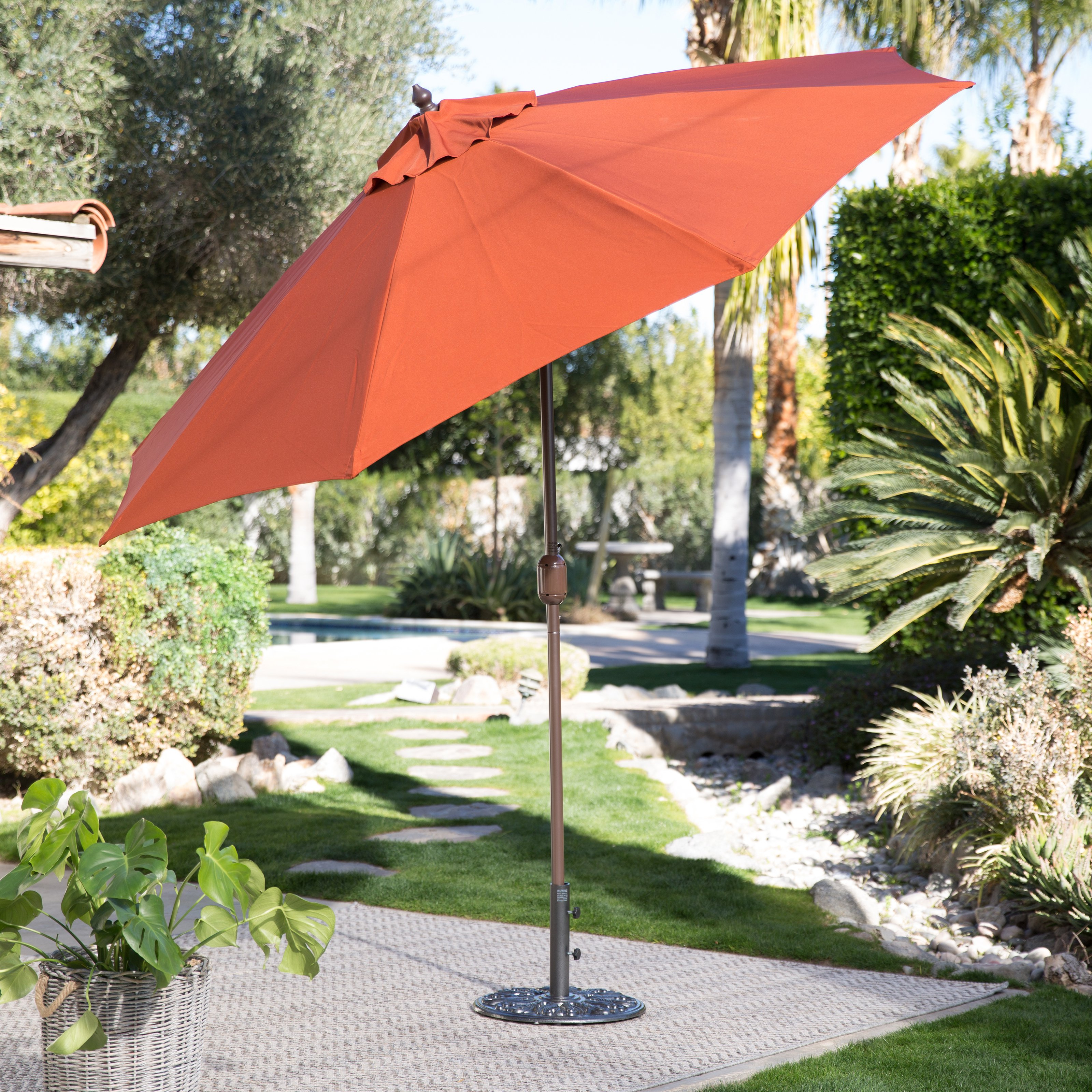 Coral Coast 9-ft. Push Button Tilt Wind Resistant Patio Umbrella