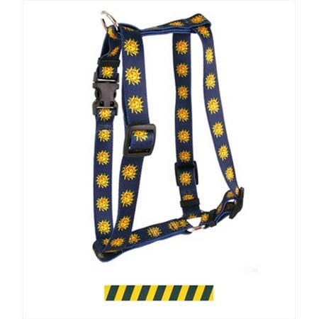 Yellow Dog Design H Tsgg101sm Team Spirit Green And Gold Roman Harness   Small Medium