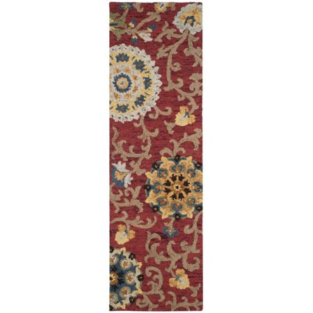Safavieh Blossom 5' X 8' Hand Hooked Wool Rug in Red - image 8 de 8