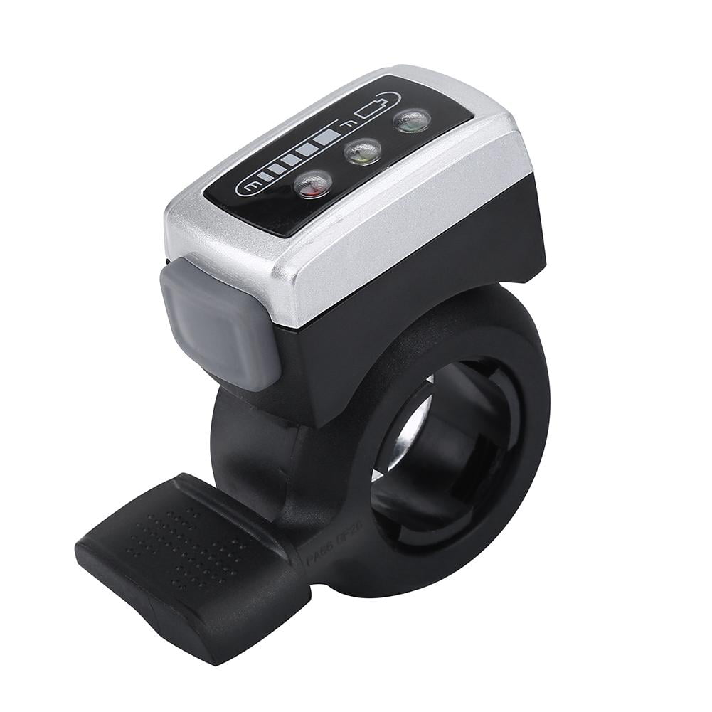 Black Plastic Thumb Throttle Speed Control with Wire Holder for E-Bike Electric Bike Scooter Yosoo Health Gear Left Right Hand Ebike Thumb Throttle