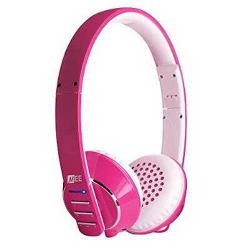 Refurbished MEE audio Runaway 4.0 Bluetooth Stereo Wireless + Wired Headphones with Microphone (Pink)