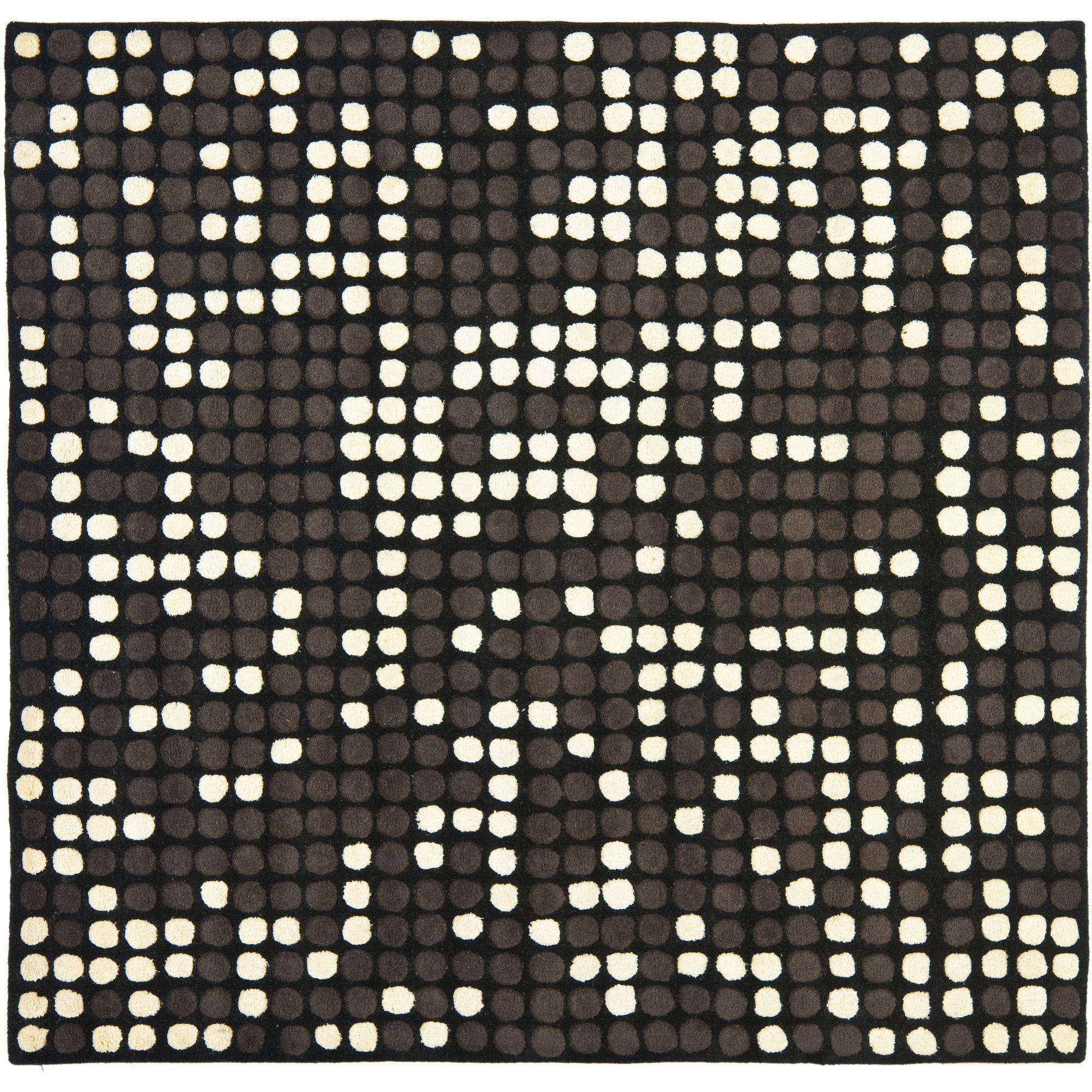 Safavieh Soho Ryan Wool Square Area Rug, Black/White, 6'