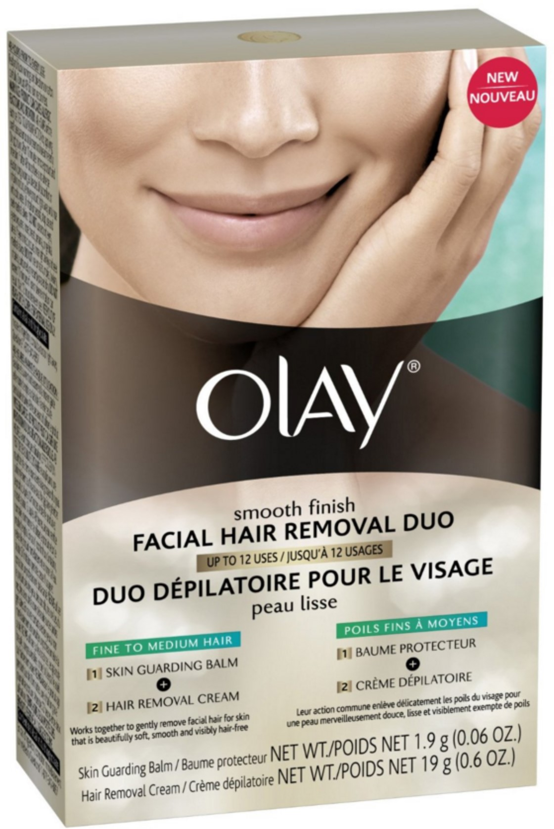 Olay Smooth Finish Facial Hair Removal Duo For Fine to Medium Hair