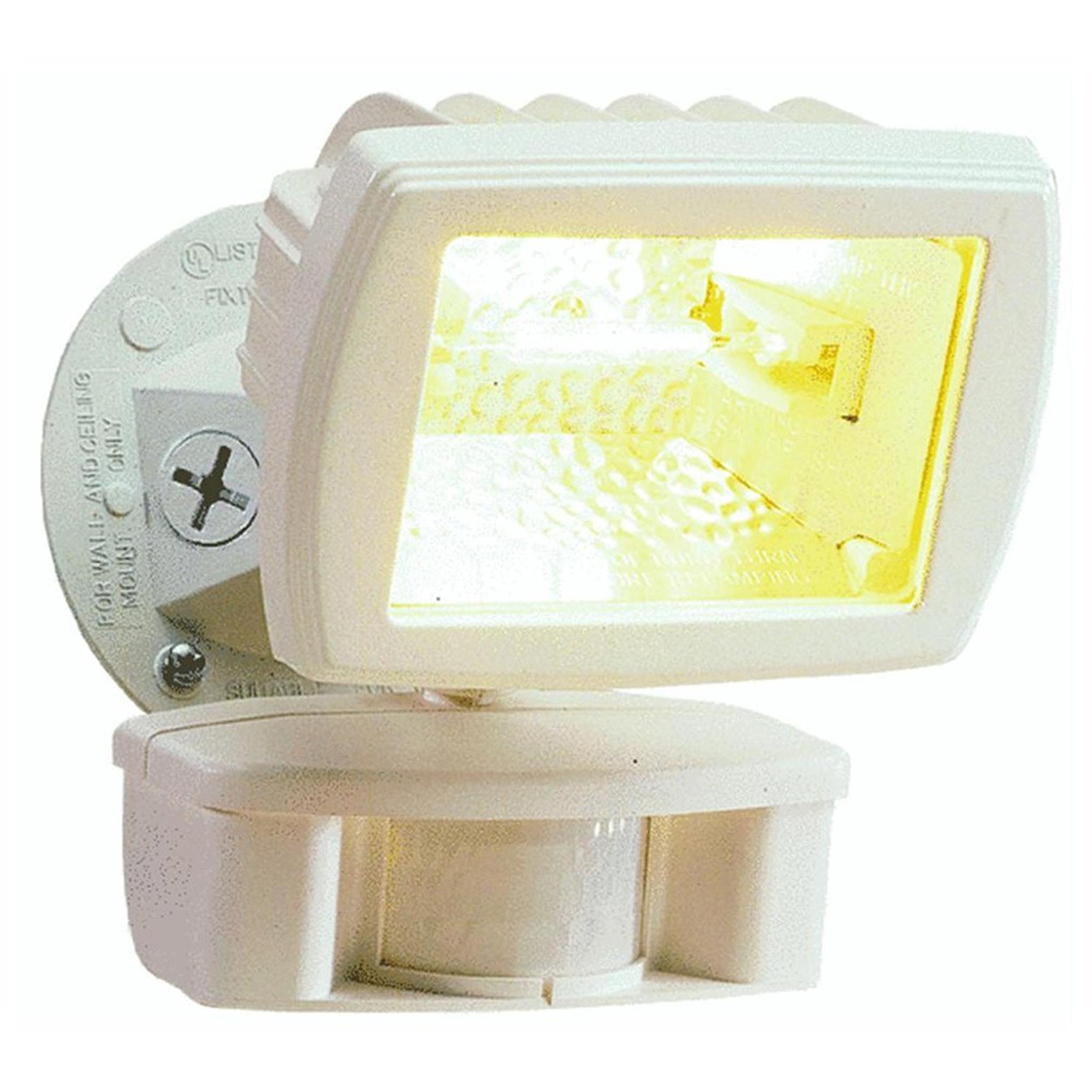 Cooper Lighting 110-Degree 150W Halogen Motion-Activated Floodlight, White
